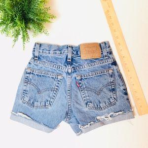 "20"" Levi's Custom Jean Shorts (Girls 10)"